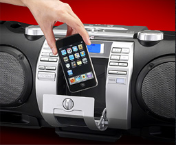 Boombox with iPod Dock